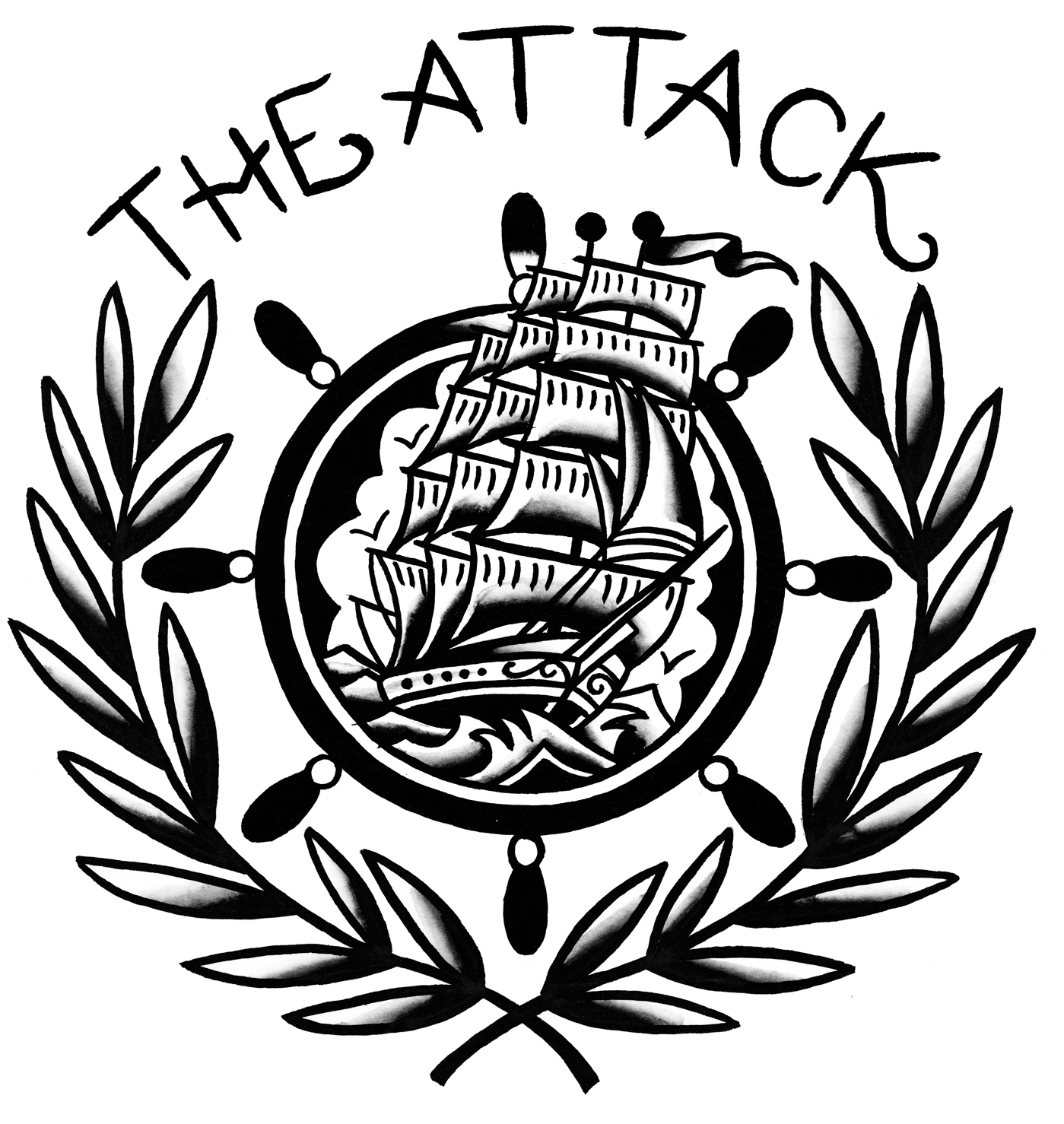 The Attack cut anchor_Ship_black