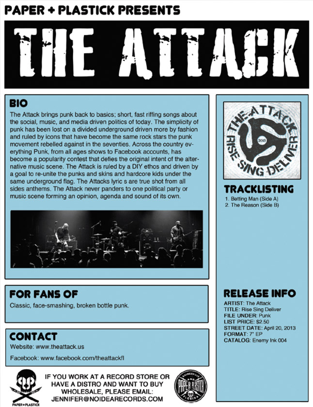The Attack One Sheet Page 1